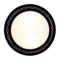 Eglo Scalea 2 Light Wall Light in Black w/ Design 89265A
