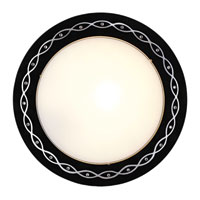 Eglo Scalea 1 Light Wall Light in Black w/ Design 89266A