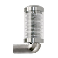 Eglo Bilbao 1 Light Outdoor Wall Light in Silver 89281A