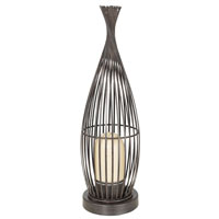 Eglo Lorena 1 Light Outdoor Floor Lamp in Antique Brown 89326A