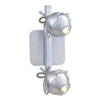 Eglo Sevo 2 Light Track Light in Brushed Aluminum 89328A