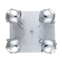 Eglo Sevo 4 Light Track Light in Brushed Aluminum 89329A