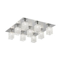 Eglo Lighting Pyton 9 Light Ceiling Light in Chrome 89493A