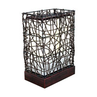 Eglo Lighting Shuko 1 Light Outdoor Floor Lamp in Antique Brown 89561A