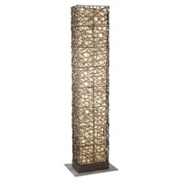Eglo Shuko 2 Light Outdoor Floor Lamp in Antique Brown 89562A