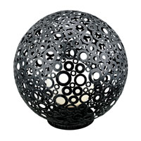 Eglo Lighting Ferroterra 1 Light Outdoor Floor Lamp in Black 89565A