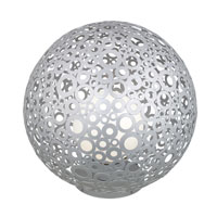 Eglo Lighting Ferroterra 1 Light Outdoor Floor Lamp in Silver 89566A