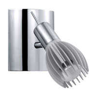 Eglo Spico 1 Light Track Light in Chrome/Silver 89587A
