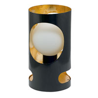 Eglo Tubola 1 Light Table Lamp in Black/Gold 89639A
