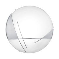 Raya 1 Light 13 inch Chrome & Satin Wall Light
