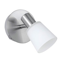 Eglo Lighting Gino 1 Light Wall Spot in Matte Nickel 89942A
