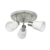 Eglo Gino 3 Light Wall Spot in Matte Nickel 89945A