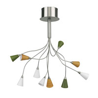 Eglo Nico 10 Light Chandelier in Matte Nickel 89991A