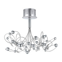 Othello 10 Light 16 inch Chrome Semi-Flush Ceiling Light