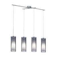Eglo 90306A Pinto Nero 4 Light 36 inch Matte Nickel Trestle Hanging Light Ceiling Light