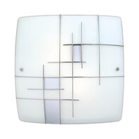 Raya 2 Light 16 inch Silver & Chrome Wall Light