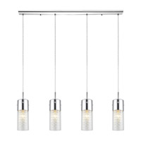 Eglo 90696A Diamond 4 Light 40 inch Chrome Trestle Hanging Light Ceiling Light