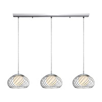 Eglo Lighting Thebe 3 Light Trestle Hanging Light in Chrome 90756A