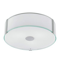 Eglo 91254A Varano 3 Light 16 inch Chrome Flush Mount Ceiling Light