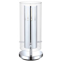 Eglo Pinto 1 Light Table Lamp in Chrome 91328A photo thumbnail