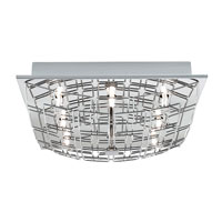 Eglo Lighting Cromer 8 Light Flush Mount in Chrome 91491A