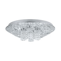 Eglo Lighting Stelaria 12 Light Flush Mount in Chrome 91569A