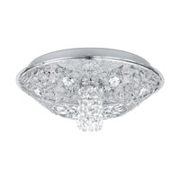 Eglo Stelaria 5 Light Flush Mount in Chrome 91571A photo thumbnail