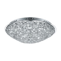 Eglo Lighting Stelaria 8 Light Flush Mount in Chrome 91599A