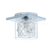Eglo Lighting Panella 1-Light Semi-Flush Mount in Chrome 91732A