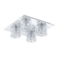Eglo Panella 4-Light Semi-Flush Mount in Chrome 91733A