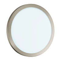 Eglo Lighting LED Arezzo 1-Light LED Wall/Ceiling Light in Matte Nickel 91854A