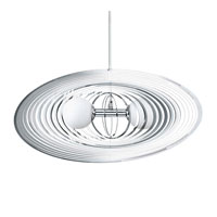 Omano 2 Light 11 inch Chrome Pendant Ceiling Light