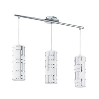 Eglo Bayman 3-Light Island Trestle Light in Chrome 92563A