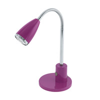 Eglo 92874A Fox 13 inch 6 watt Purple and Chrome Desk Lamp Portable Light