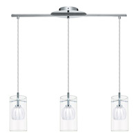 Eglo Ricabo 3 Light Pendant in Chrome 93103A