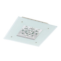 Eglo Benalua LED Flush Mount in White w/ Clear Trim 93574A