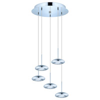 Eglo Tarugo LED Multi Light Pendant in Chrome 93586A