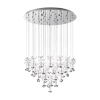 Pianopoli LED 31 inch Chrome Multi Light Pendant Ceiling Light