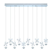 Eglo 93663A Pianopoli LED 5 inch Chrome Multi Light Pendant Ceiling Light