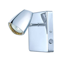 Eglo Corbera 1 Light Wall Track Light in Chrome 93672A
