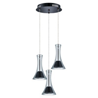 Musero LED 11 inch Matte Nickel Multi Light Pendant Ceiling Light