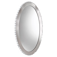 Eglo Toneria LED 9 Light Mirror in Chrome with Mirrored Glass and Clear Crystals 93948A