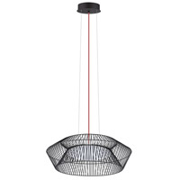 Eglo 93985A Piastre LED 23 inch Black Pendant Ceiling Light