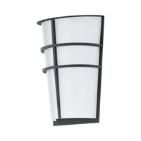 Eglo Breganzo LED 2 Light Outdoor Wall Light in Anthracite with White Plastic Shade 94138A