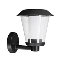 Eglo Blyth LED 1 Light Outdoor Wall Light in Black with Clear And White Glass 94214A