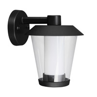 Eglo Blyth LED 1 Light Outdoor Wall Light in Black with Clear And White Glass 94215A