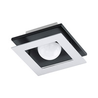 Eglo 94229A Bellamonte LED 6 inch Brushed Aluminum and Black Flush Mount Ceiling Light