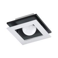 Eglo 94229A Bellamonte LED 6 inch Brushed Aluminum and Black Flush Mount Ceiling Light