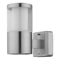 Eglo Basalgo I LED 1 Light Outdoor Wall Light in Stainless Steel with Clear And White Plastic Shade 94277A