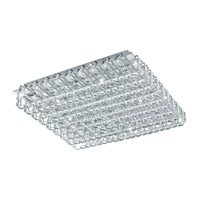 Eglo Lonzaso LED 16 Light Flush Mount in Chrome with Clear Crystals 94315A